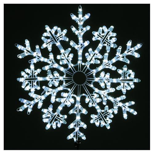 Fiocco di neve 336 Led Bianco ghiaccio interno ed esterno 2
