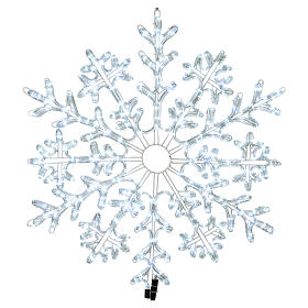 LED Snowflake 336 Ice White Lights Indoor and Outdoor Use s1