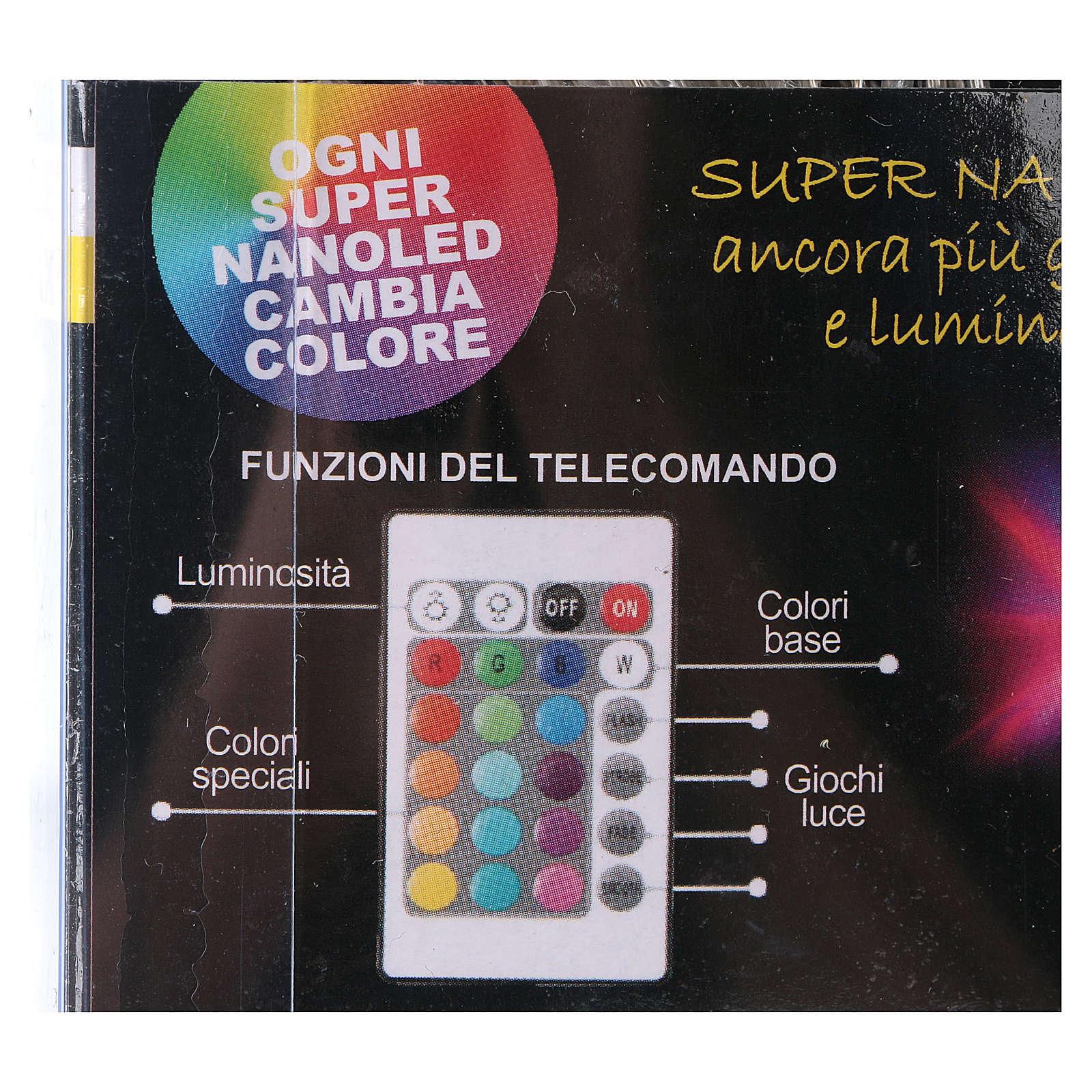 Catena filo nudo 90 Nano Led giochi luce Interno ed esterno 3