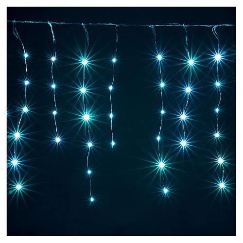 Cortina fio nu 90 nano Leds jogos luzes interior e exterior 5