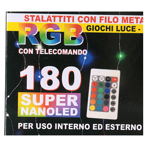 Curtain 180 nano LED lights with effects 4 m, indoor and outdoor use 10