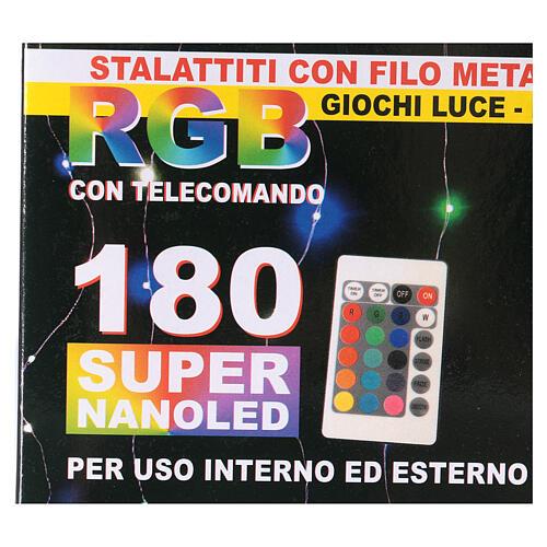 Rideau avec 180 nano Leds 4 m jeux lumières intérieur extérieur 10