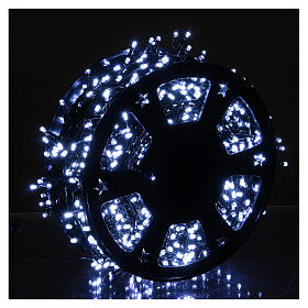 Chain with 1200 ice white LED lights with Memory and App s2