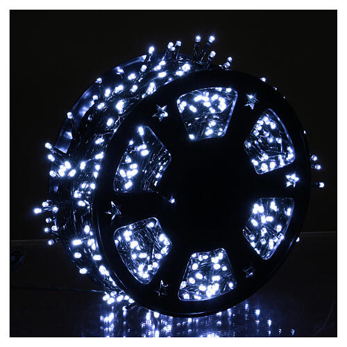 Chain with 1200 ice white LED lights with Memory and App 2