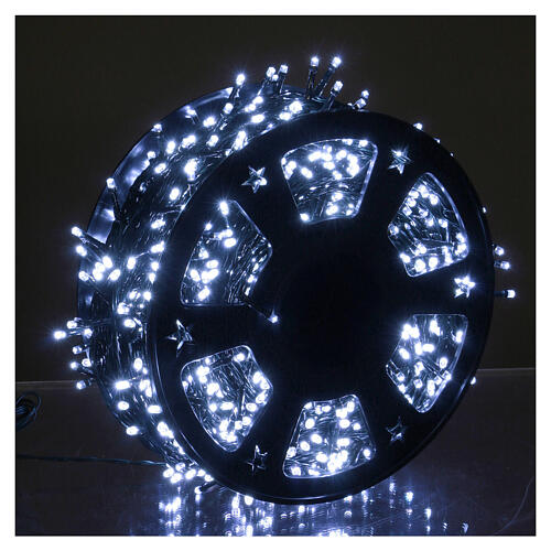 1200 LED String Lights Ice White with Memory and Application from Smartphone 1