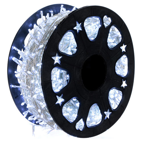 1500 LED String Light Wheel Ice White with Memory and App 1