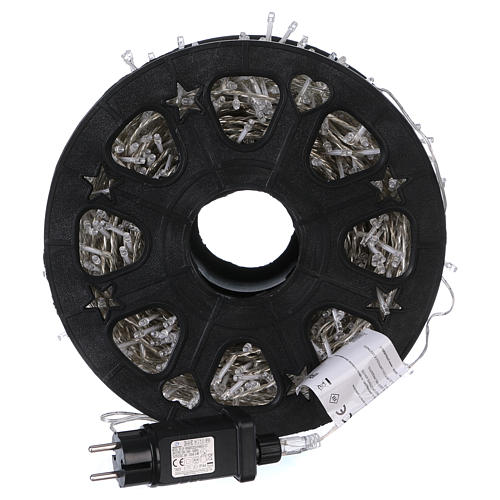 1500 LED String Light Wheel Ice White with Memory and App 4