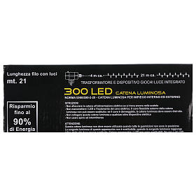 Chain with 300 warm and cold LED lights for indoor and outdoor use s8