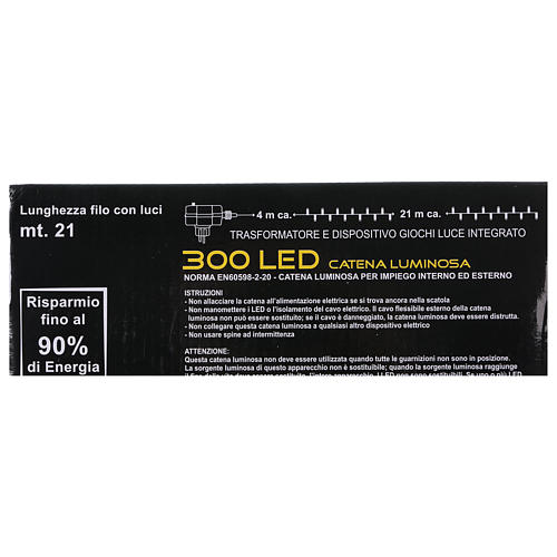 Chain with 300 warm and cold LED lights for indoor and outdoor use 8