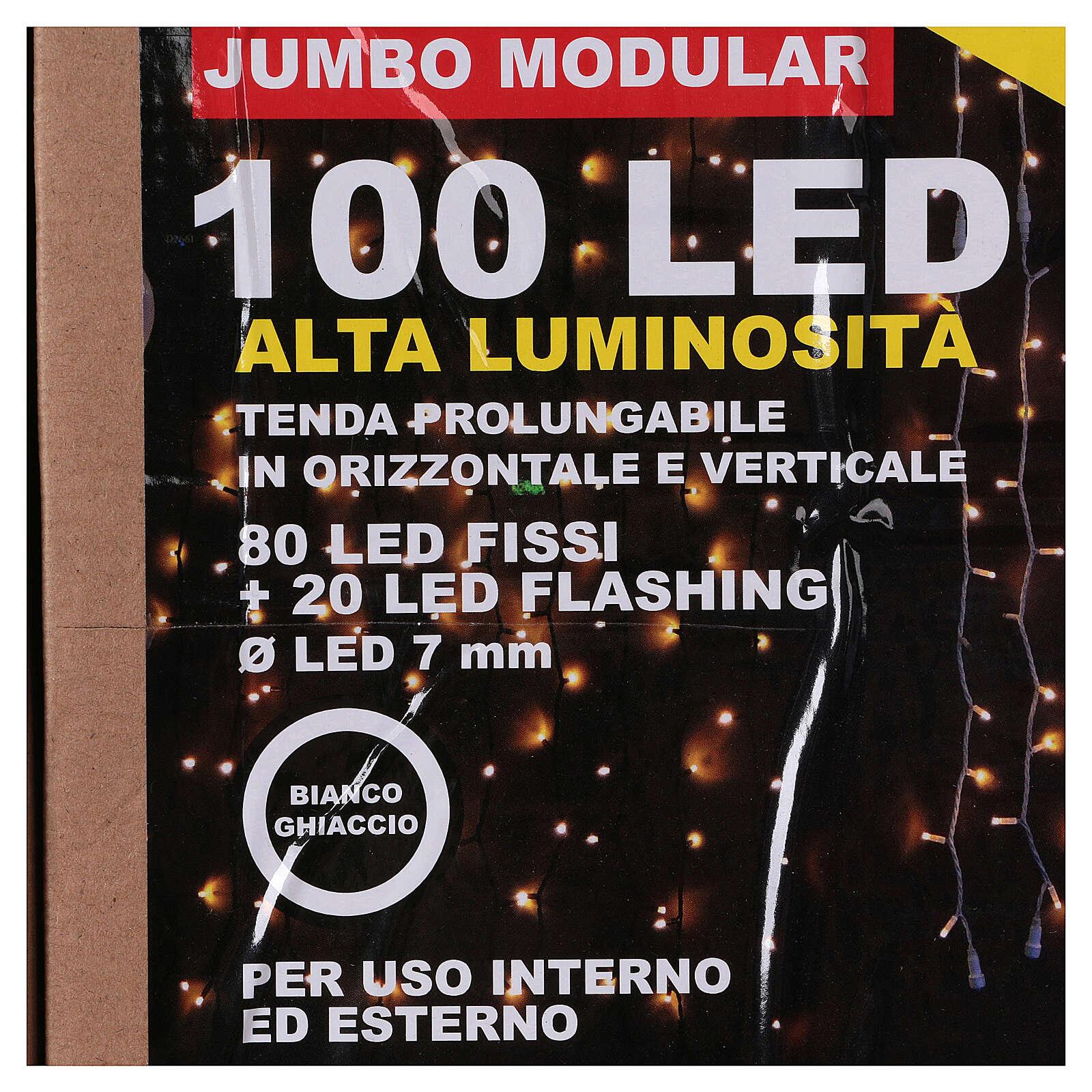 Cortina 100 Jumbo Led Luz Fría prolongable 3