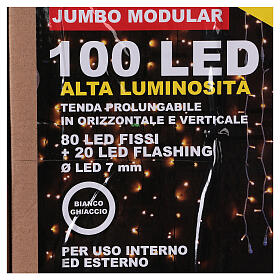 Cortina 100 Jumbo Led Luz Fría prolongable s6
