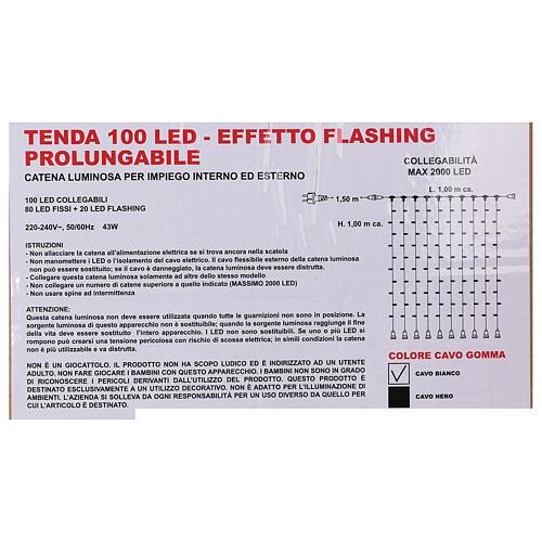 Cortina 100 Jumbo Led Luz Fría prolongable 5