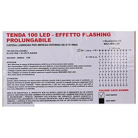 Curtain String Lights 100 Jumbo LED Cold Light Extendable s6