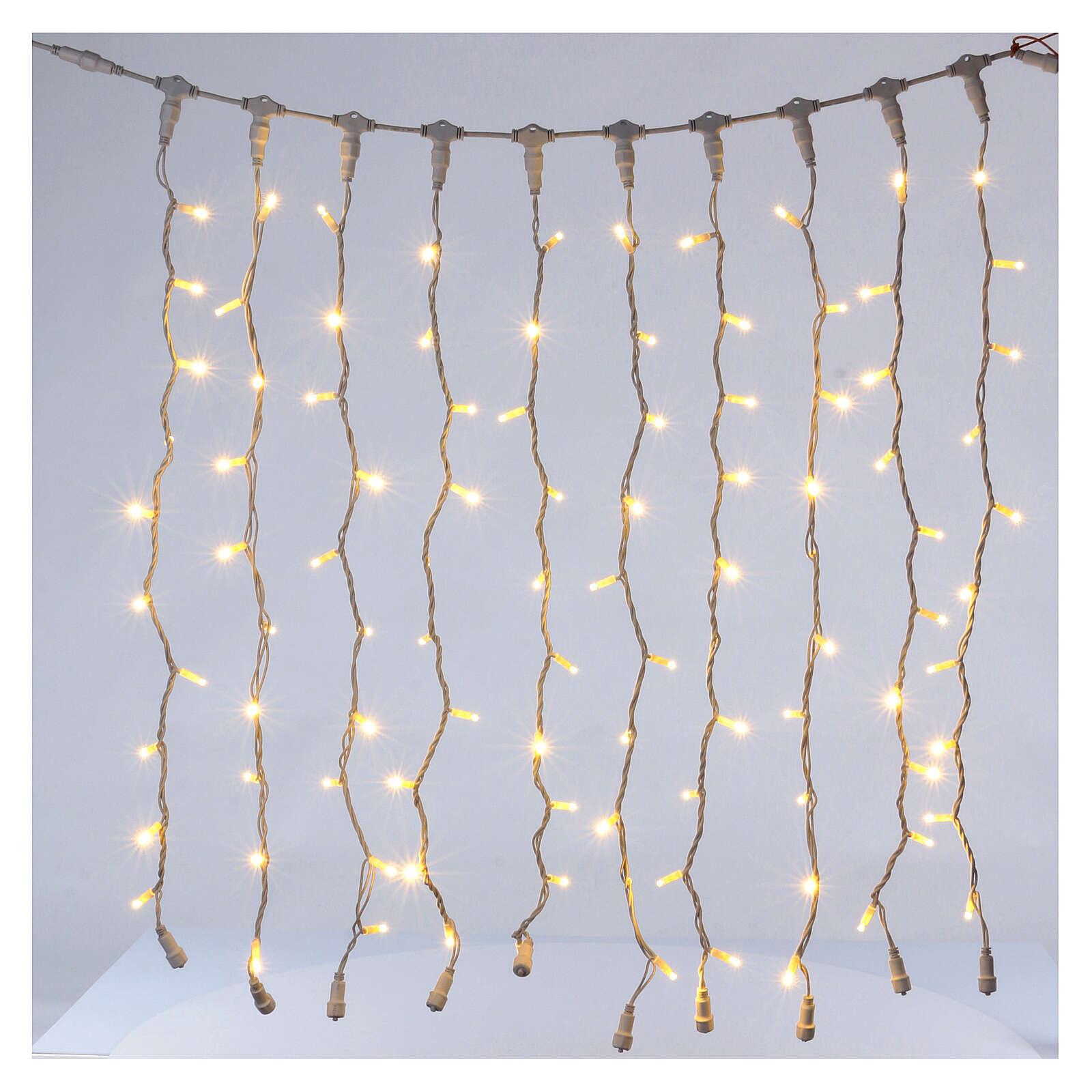 Weihnachtslichter Vorhang 100 Jumbo Leds warmweiss verlängerbar 3