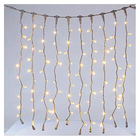 Weihnachtslichter Vorhang 100 Jumbo Leds warmweiss verlängerbar s6