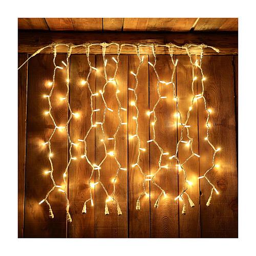 Weihnachtslichter Vorhang 100 Jumbo Leds warmweiss verlängerbar 1