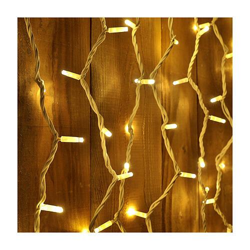 Weihnachtslichter Vorhang 100 Jumbo Leds warmweiss verlängerbar 2