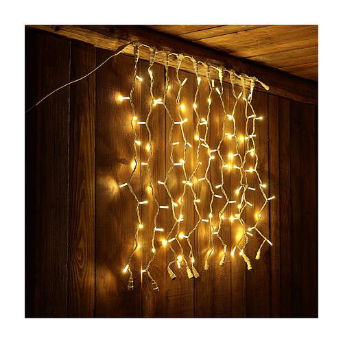 Weihnachtslichter Vorhang 100 Jumbo Leds warmweiss verlängerbar 4