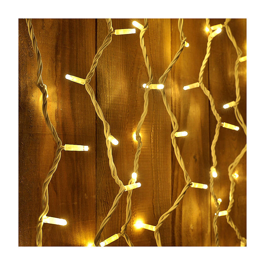 String Light Curtain Warm Light 100 Jumbo LED Extendable 3
