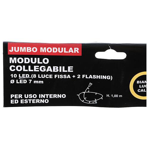 LED Light Module 10 Jumbo Warm light 1 meter indoor and outdoor use 5
