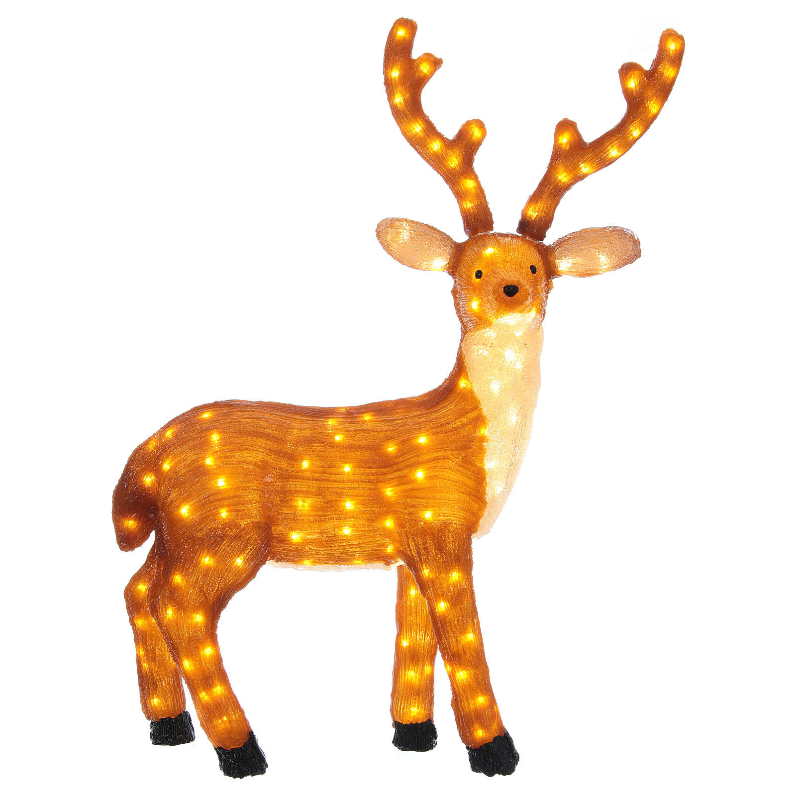 Brown LED Reindeer 1 meter 240 LED warm light indoor outdoor use 3