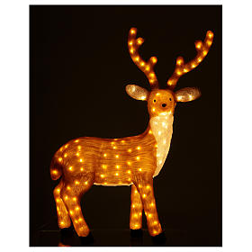 Brown LED Reindeer 1 meter 240 LED warm light indoor outdoor use s2