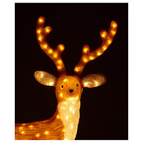Brown LED Reindeer 1 meter 240 LED warm light indoor outdoor use s3