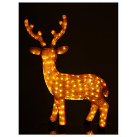 Brown LED Reindeer 1 meter 240 LED warm light indoor outdoor use s4