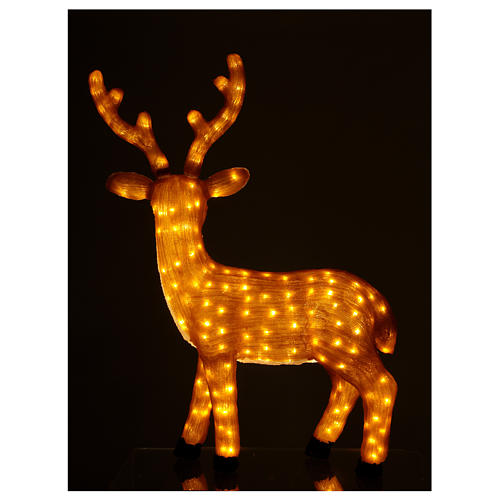 Brown LED Reindeer 1 meter 240 LED warm light indoor outdoor use 4