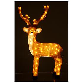 Illuminazione Renna Marrone 120 Led luce calda 84 cm  s2