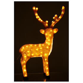Illuminazione Renna Marrone 120 Led luce calda 84 cm  s4