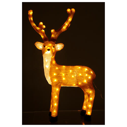 Illuminazione Renna Marrone 120 Led luce calda 84 cm  2
