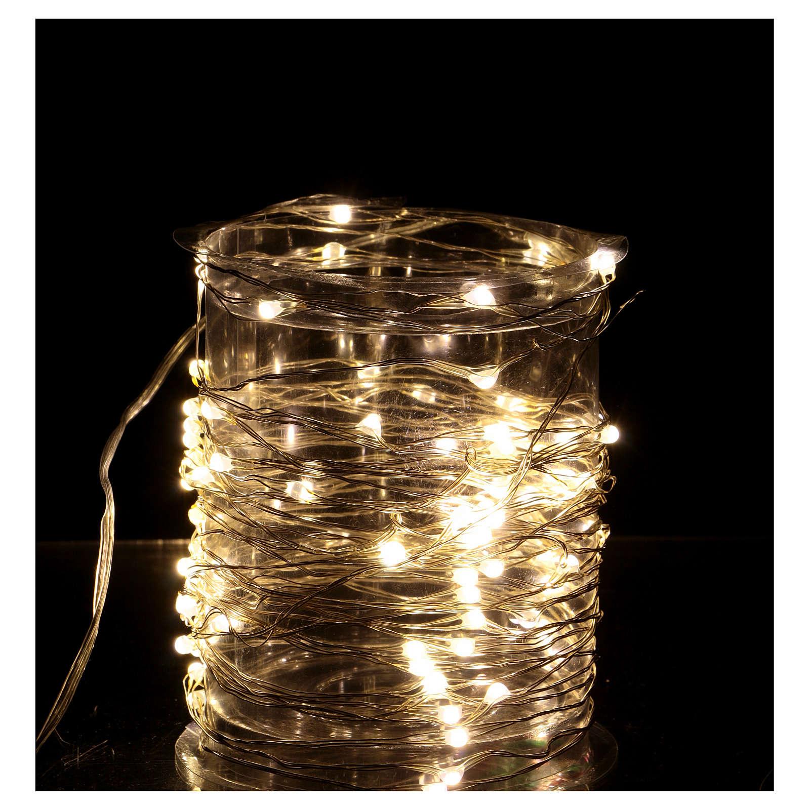 Iluminación 100 nano Led hilo desnudo Luz Cálida 3