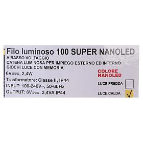 Iluminación 100 nano Led hilo desnudo Luz Cálida s5