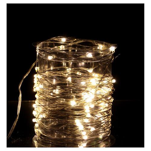 Iluminación 100 nano Led hilo desnudo Luz Cálida 2
