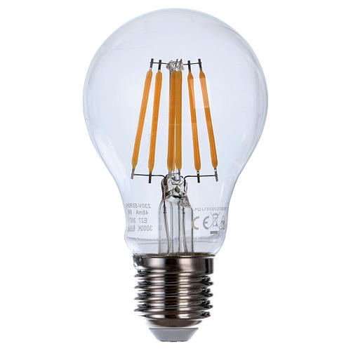 Lampadina Led 8W Goccia Filamento E27 1