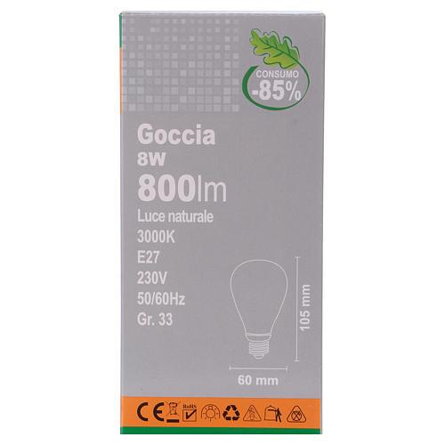 LED Filament E27 Bulb 8W 2