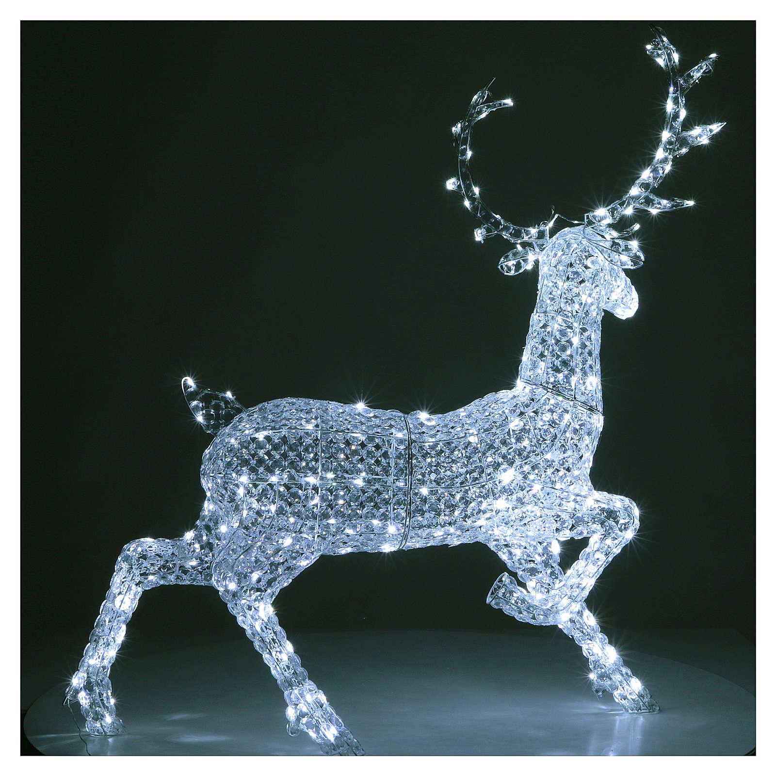Ciervo 300 LED blanco hielo para interior o exterior 3