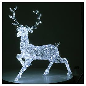 Ciervo 300 LED blanco hielo para interior o exterior s2
