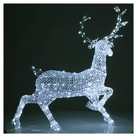 Ciervo 300 LED blanco hielo para interior o exterior s4