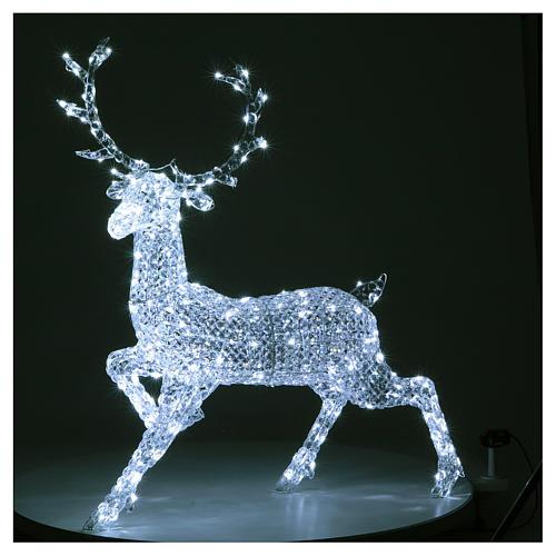 Ciervo 300 LED blanco hielo para interior o exterior 2