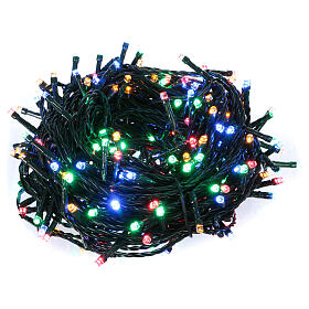 Ice white and multicoloured LED light chain with play of lights s1