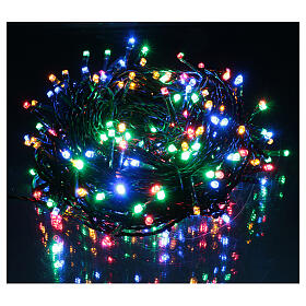 Ice white and multicoloured LED light chain with play of lights s2