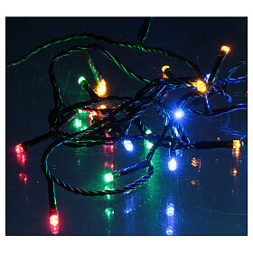 Ice white and multicoloured LED light chain with play of lights s4