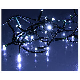 Ice white and multicoloured LED light chain with play of lights s5