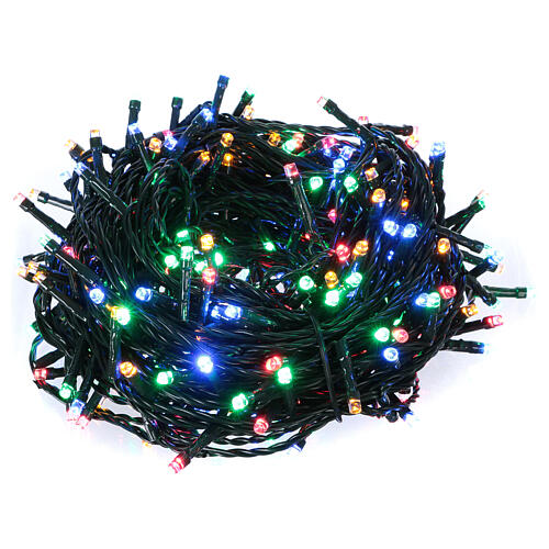 Ice white and multicoloured LED light chain with play of lights 1