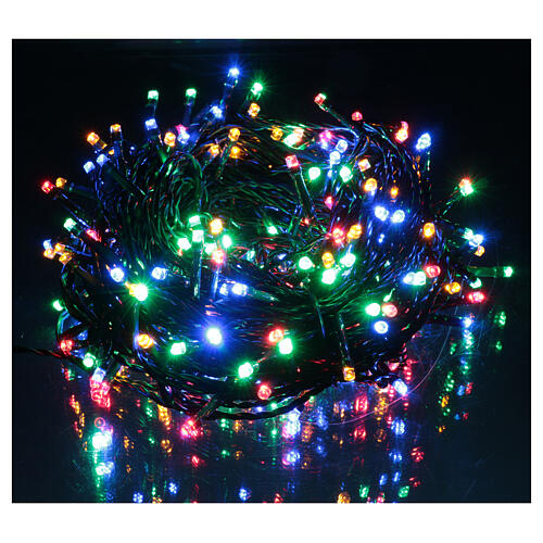 Ice white and multicoloured LED light chain with play of lights 2