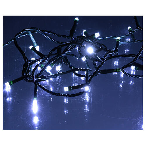 Ice white and multicoloured LED light chain with play of lights 5