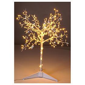 Albero luminoso Natalizio metallo 90 cm 210 LED bianco caldo e freddo esterno s2