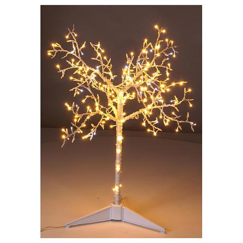 Albero luminoso Natalizio metallo 90 cm 210 LED bianco caldo e freddo esterno 2